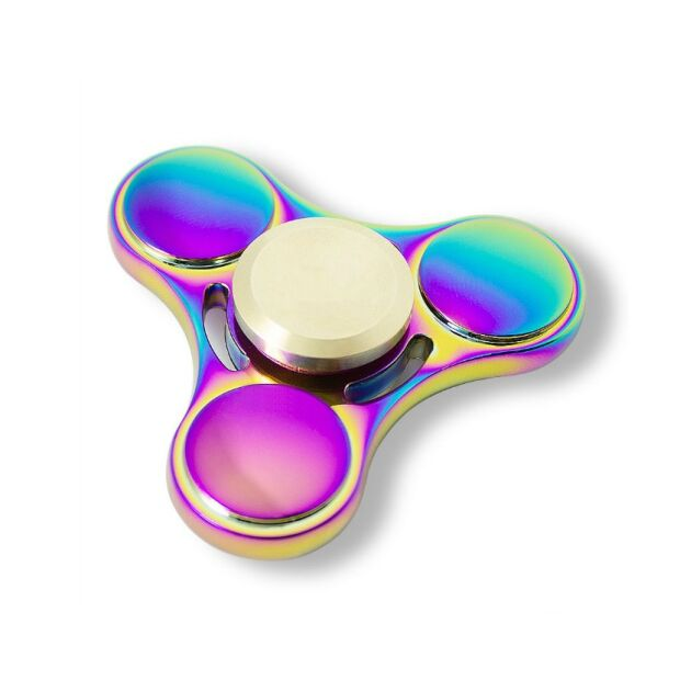 Bunter Premium Tri Finger Spinner Anti-Stress Konzentration Fidget Zink ADHS EDC Metall