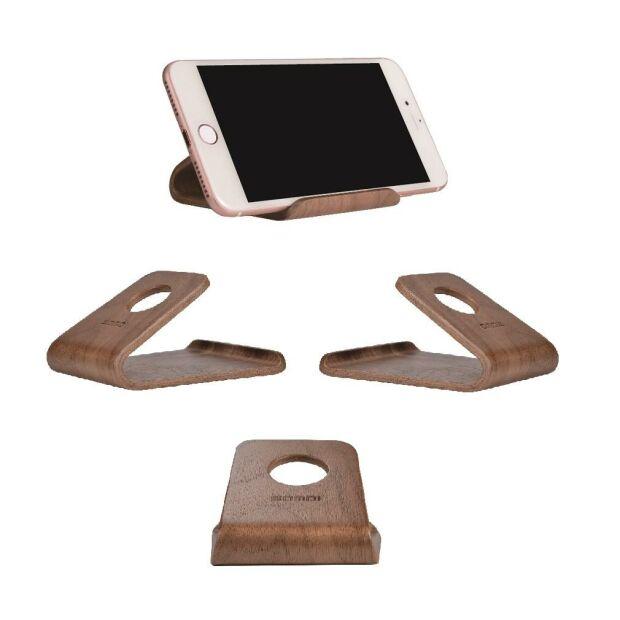 SAMDI ® Holz Smartphone Stand Nussbaum