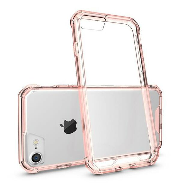 Hard Back Clear Case Hybrid | Hülle für iPhone 7 / 8 rosé