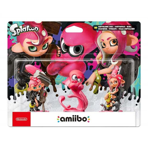 Nintendo amiibo Figur Oktoling Mädchen, Junge, Oktopus 3-in-1 SET