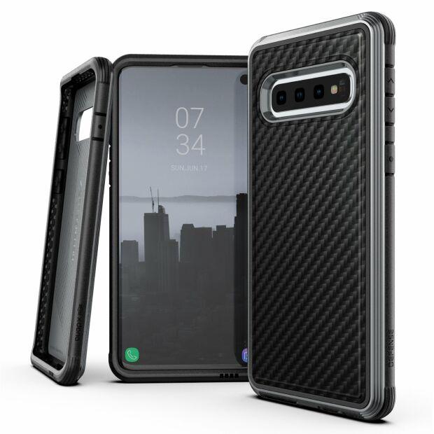 Premium Schutzhülle stoßfest Case Cover X-Doria Defense Lux für Samsung S10