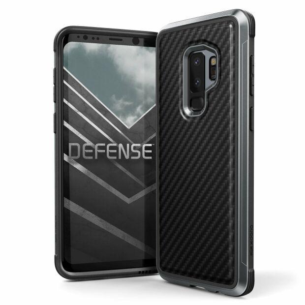 Premium Schutzhülle stoßfest Case Cover X-Doria Defense Lux für Samsung S9+ Plus