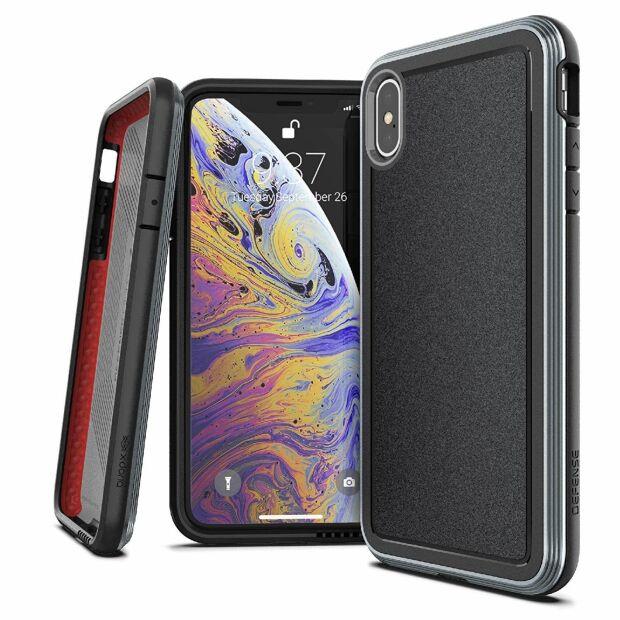 Premium Schutzhülle stoßfest Case X-Doria Defense Ultra schwarz für iPhone XS / X