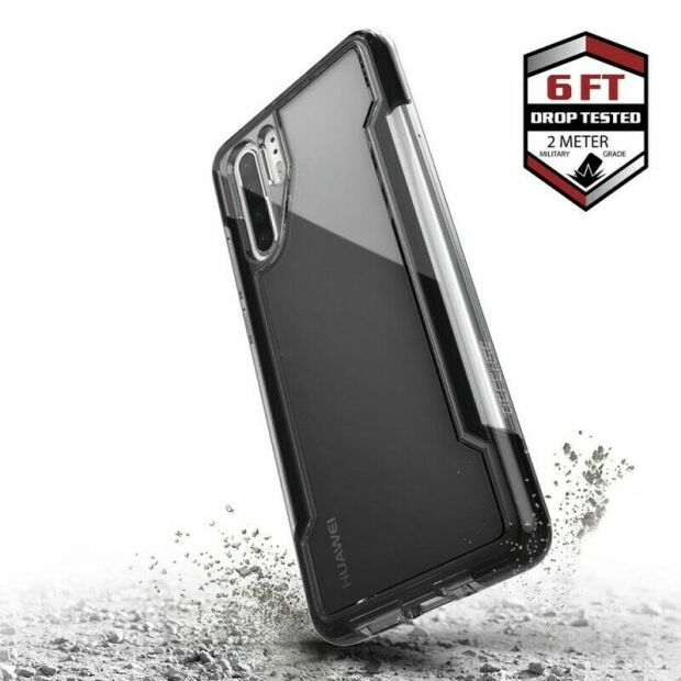 Premium Schutzhülle stoßfest Case X-Doria Defense Clear+ schwarz klar Huawei P30 Pro