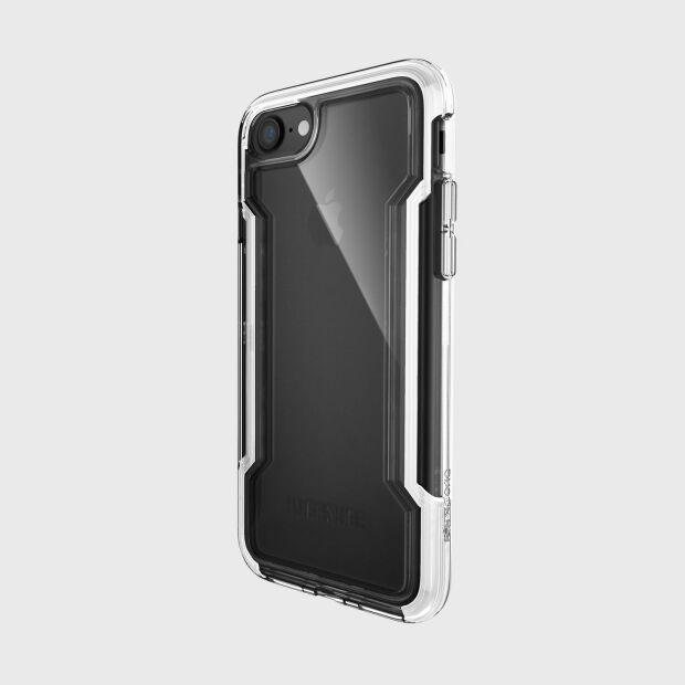 Premium Schutzhülle stoßfest Case X-Doria Defense Clear weiß für iPhone 8 / 7