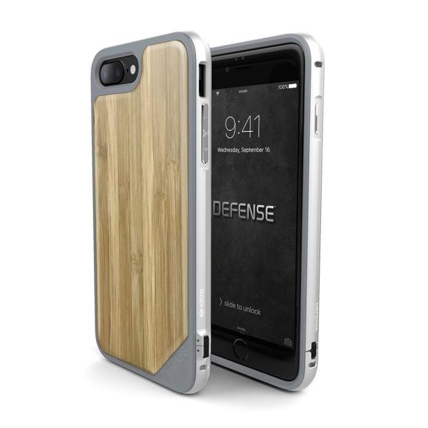 Premium Schutzhülle stoßfest Case Cover X-Doria Defense Lux bambus für iPhone 7 / 8