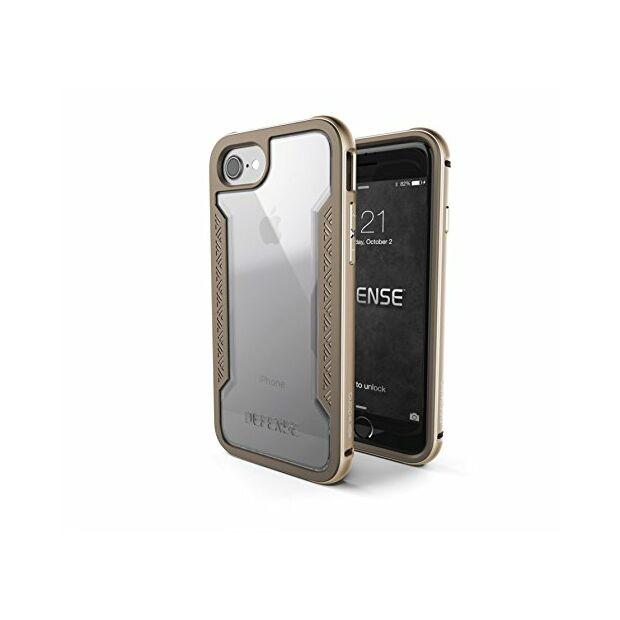Premium Schutzhülle stoßfest Case X-Doria Defense Shield gold für iPhone 7 / 8