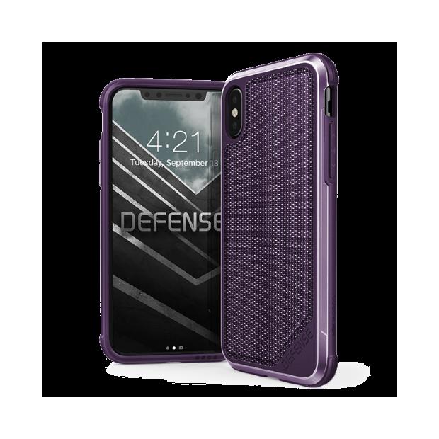 Premium Schutzhülle stoßfest Case X-Doria Defense lila violett für iPhone XS / X