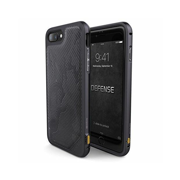 Premium Schutzhülle stoßfest Case Cover X-Doria Defense Lux grau camo für iPhone 7 / 8