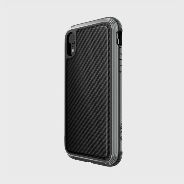 Premium Schutzhülle stoßfest 3 m Case X-Doria Defense Lux schwarz für iPhone XR