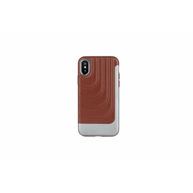 Premium Schutzhülle stoßfest Case Cover X-Doria Spartan braun für iPhone XS / X