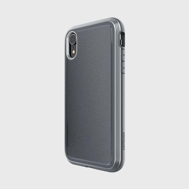 Premium Schutzhülle Case stoßfest X-Doria Defense Ultra+ grau für iPhone XR