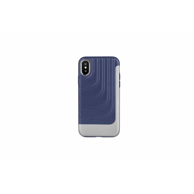 Premium Schutzhülle stoßfest Case Cover X-Doria Spartan blau für iPhone XS / X