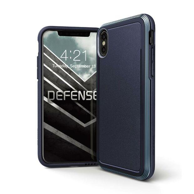 Premium Schutzhülle stoßfest Case Cover X-Doria Defense Ultra blau für iPhone X XS