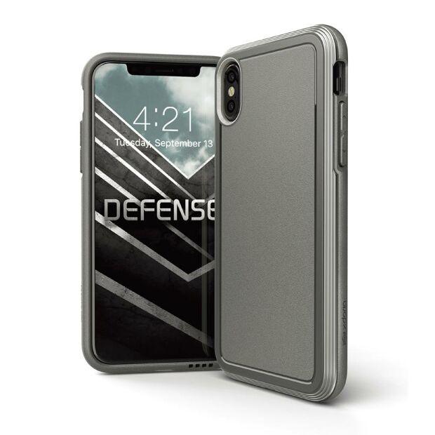 Premium Schutzhülle stoßfest 4m Case X-Doria Defense Ultra grau für iPhone XS / X