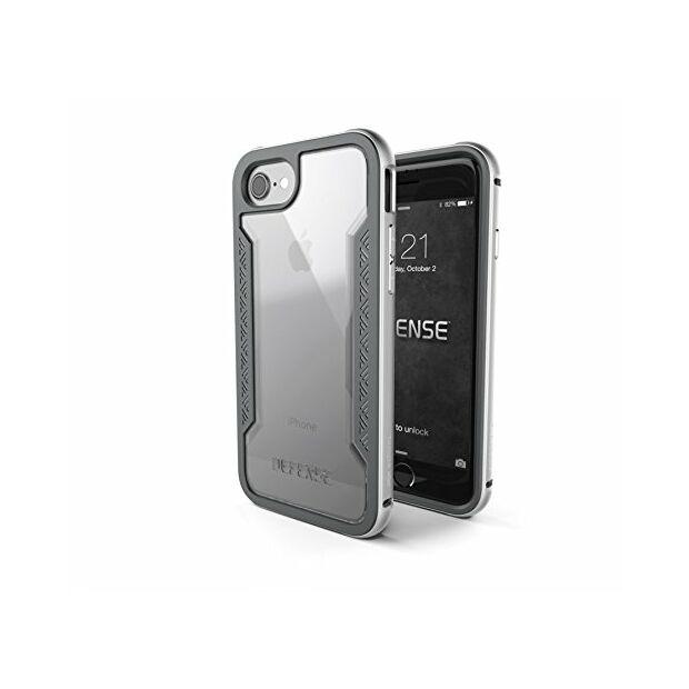 Premium Schutzhülle stoßfest Case X-Doria Defense Shield silber für iPhone 7 / 8