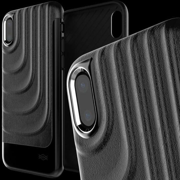 Premium Schutzhülle stoßfest Case Cover X-Doria Spartan schwarz für iPhone XS / X