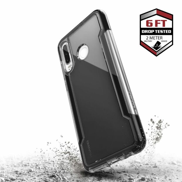 Premium Schutzhülle stoßfest Case X-Doria Defense Clear+ schwarz klar Huawei P30 Lite