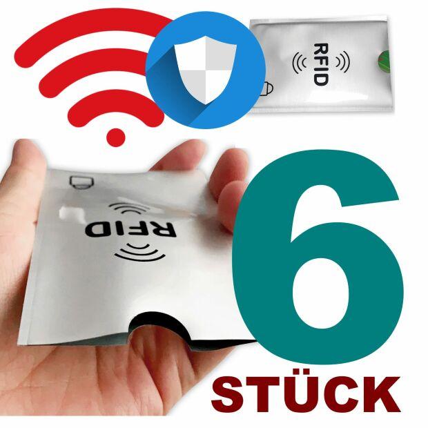 6x RFID NFC Schutzhülle Blocker Kreditkarte Aluminium