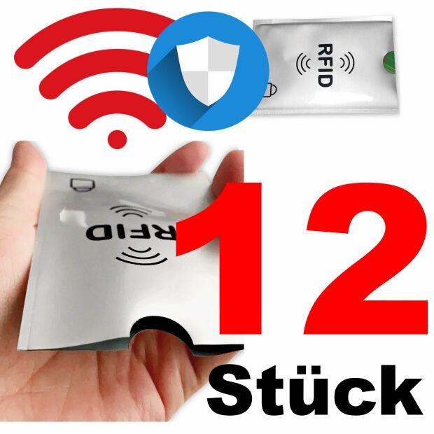 12x RFID NFC Schutzhülle Blocker Kreditkarte Aluminium