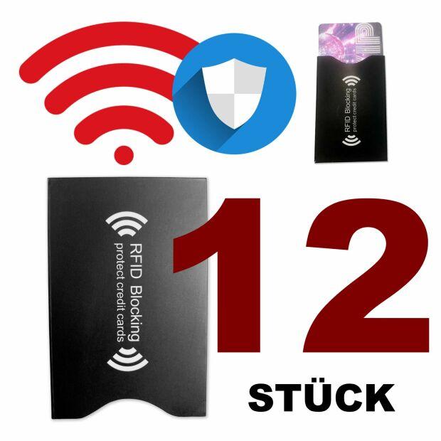 12x RFID NFC Schutzhülle Blocker Kreditkarte PVC-Karton-Schutzfolie