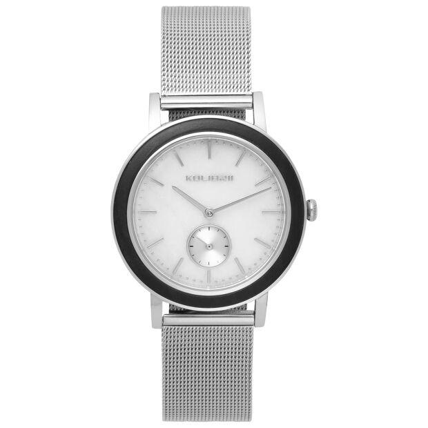 Armbanduhr 38mm Herren Damen Uhr Silber Edelstahl Holz Marmor Mesh Saphirglas