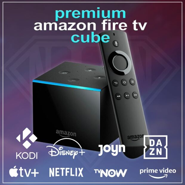 Amazon Fire TV Cube 2 4K PREMIUM BUNDLE inkl. Ethernet...