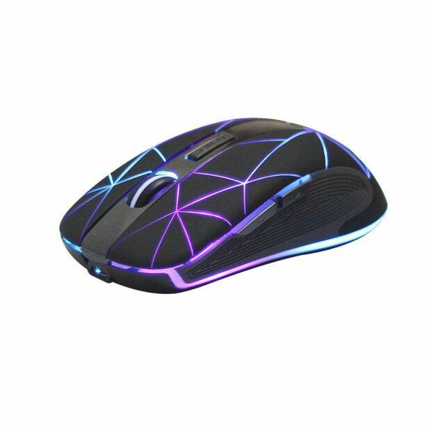 Riitek Rii RM200 optische Gaming Maus 1600 DPI  kabellos USB Nano Empfänger RGB LED beleuchtet