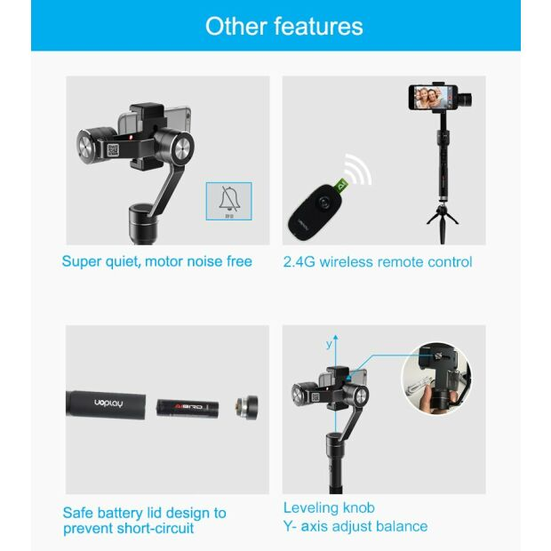 AIBIRD Uoplay 2 Premium Smartphone Gimbal Stabilizer 3 Axis B-Ware
